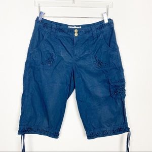 Anthropologie Hei Hei Navy blue cargo shorts